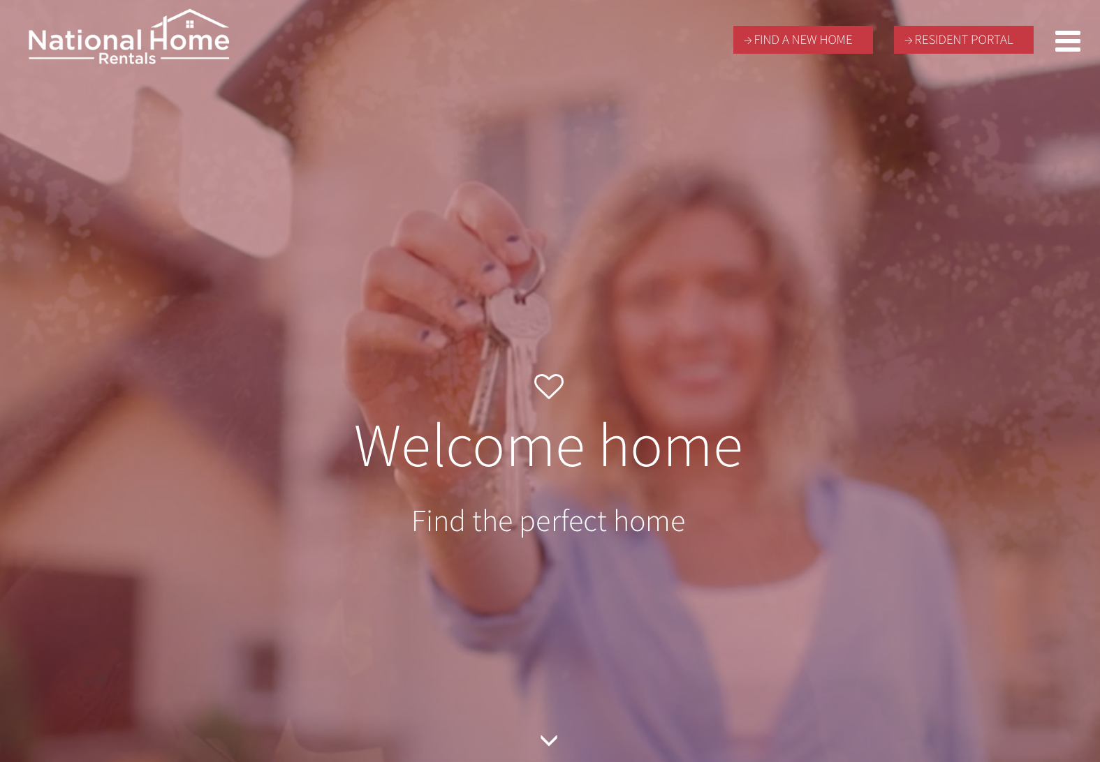 responsive website design for National Home Rentals